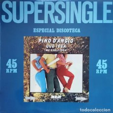 Discos de vinilo: PINO D'ANGIO'- QUE IDEA (MA QUALE IDEA) - MAXI-SINGLE SPAIN 1981. Lote 92671525