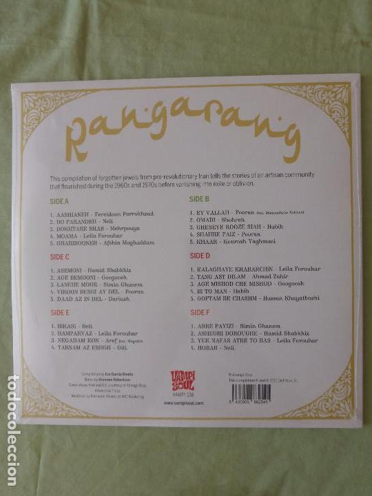 Discos de vinilo: Rangarang: Pre-Revolutionary Iranian Pop - TRIPLE VINILO PRECINTADO - El Pop en tiempos del Sha - Foto 2 - 92685565