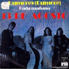 Discos de vinilo: 13 DE AGOSTO - RUMORES (RUMORE) + CADA MAÑANA SINGLE SPAIN 1975 EXCELLENT CONDITION. Lote 92700470