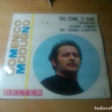 Discos de vinil: DOMENICO MODUGNO - DIO COME TI AMO (EUROVISION ITALIA 1966) +3. Lote 92700980