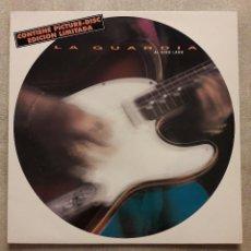 Discos de vinilo: VINILO LP. LA GUARDIA. AL OTRO LADO. PICTURE DISC EDICION LIMITADA SERDISCO 1991 PRACTICAMENTE NUEVO. Lote 92735065
