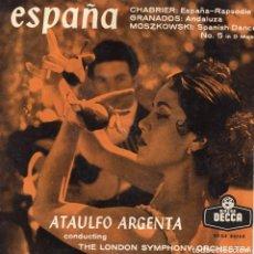 Discos de vinilo: ATAULFO ARGENTA, EP, ESPAÑA + 2, AÑO 1958. Lote 92743430