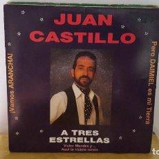 Discos de vinilo: SINGLE - JUAN CASTILLO - VAMOS ARANCHA / PERO DAIMIEL ES MI TIERRA - PECA MUSIC P-004P - 1990 PROMO. Lote 92761490