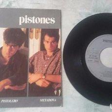 Discos de vinilo: PISTONES: EL PISTOLERO / METADONA (ARIOLA 1983). Lote 92770695
