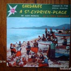 Discos de vinilo: COBLA BARCELONA - SARDANES A ST CYPRIEN PLAGE . Lote 92804085