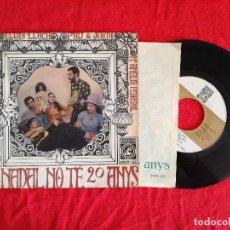 Discos de vinilo: MARIA DEL MAR BONET LLACH PAU I JORDI MARIA AMELIA PEDREROL, NADAL NO TE 20 ANYS (CONCENTRIC) EP . Lote 92823010