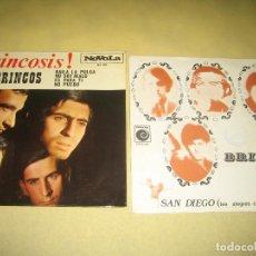 Disques de vinyle: LOS BRINCOS - LOTE DE 2 SINGLES. Lote 202017673