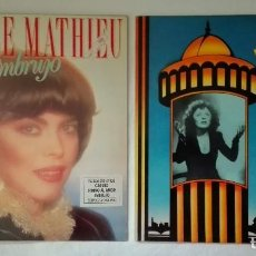 Discos de vinilo: MIREILLE MATHIEU Y EDITH PIAF. Lote 92849655