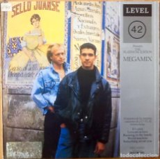 Discos de vinilo: LEVEL 42 : THE PLATINUM EDITION MEGAMIX [ESP 1987]. Lote 92849940