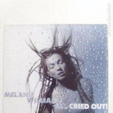 Discos de vinilo: MELANIE WILLIAMS ALL CRIED OUT ( 1994 SONY COLUMBIA UK ) CARPETA Y VINILO EN BUEN ESTADO. Lote 92850975