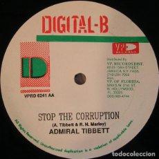 Discos de vinilo: COCOA TEA/ADMIRAL TIBBETT-STAND UP STRAIGHT / STOP THE CORRUPTION-REGGAE. Lote 92880210