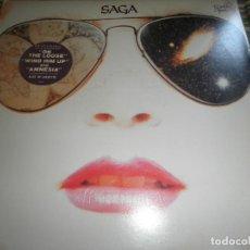 Discos de vinilo: SAGA - WORLDS APART LP - ORIGINAL U.S.A. - PORTRAIT 1982 CON FUNDA INT. ORIGINAL -. Lote 92891275