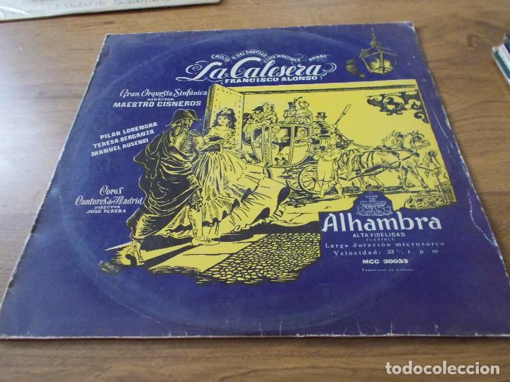 LA CALESERA. (Música - Discos - LP Vinilo - Clásica, Ópera, Zarzuela y Marchas)