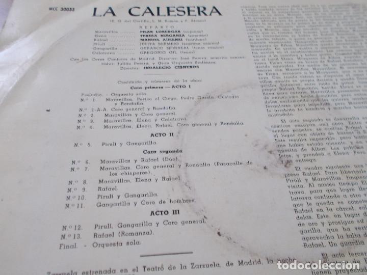 Discos de vinilo: LA CALESERA. - Foto 2 - 92891485
