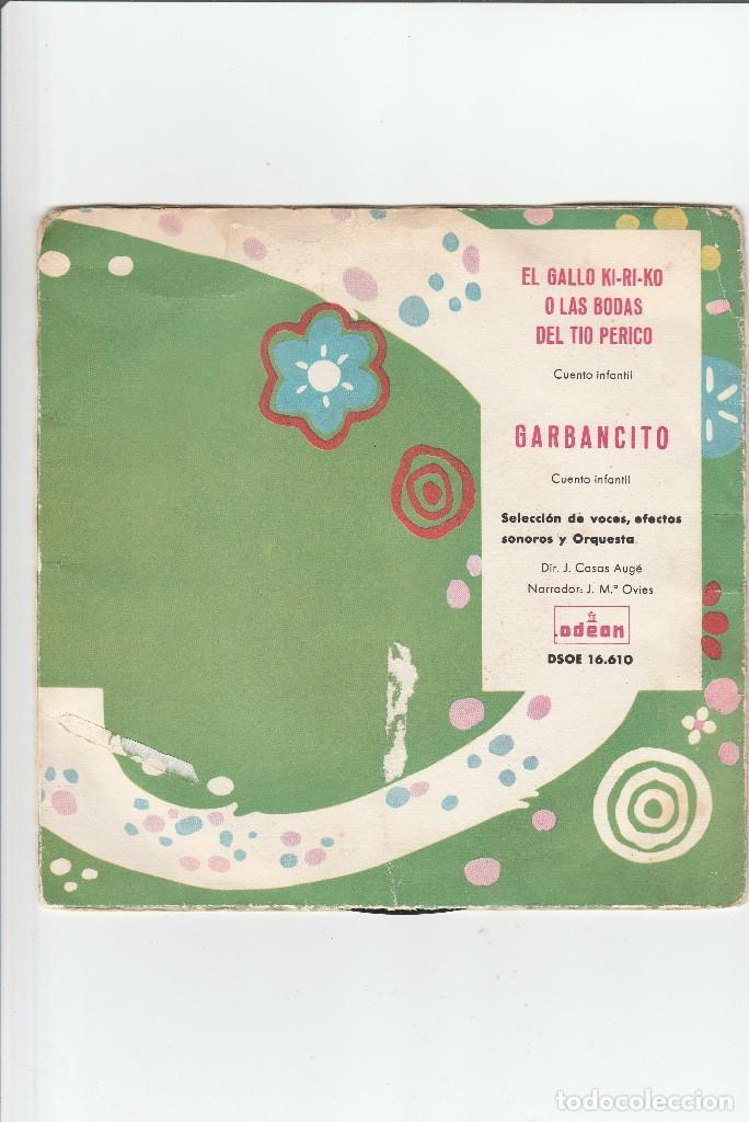 GARBANCITO-EL GALLO KIRIKO-O LAS BODAS DEL TIO PERICO (Música - Discos de Vinilo - Maxi Singles - Música Infantil)