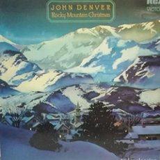 Discos de vinilo: JOHN DENVER - ROCKY MOUNTAIN CHRISTMAS LP DOBLE PORTADA 1975 USA. Lote 92905230
