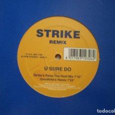 Discos de vinilo: MAXI 12 PULGADAS. STRIKE REMIX. U SURE DO. 3 CANCIONES. AÑO 1994. Lote 92909115