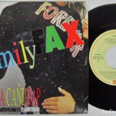 Discos de vinilo: FAMILY FAX - ESPAÑA CAÑI RAP - SINGLE - EMI 1991 SPAIN. Lote 92929640