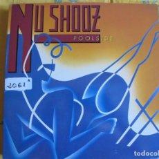Discos de vinilo: LP - NU SHOOZ - POOLSIDE (SPAIN, ATLANTIC RECORDS 1986). Lote 92929835