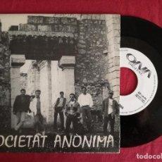 Discos de vinilo: SOCIETAT ANONIMA, SA PADRINA + NO POTS DIR RES (ONA DIGITAL 1993) SINGLE - HARD BLUES ROCK MALLORCA. Lote 92937230