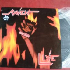 Discos de vinilo: RAVEN LIVE AT INFERNO DOBLE VINILO. Lote 92963705