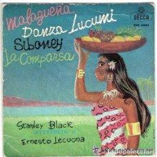 Discos de vinilo: STANLEY BLACK Y SU ORQUESTA - MALAGUEÑA / DANZA LUCUMI / SIBONEY / LA COMPARSA - EP DECCA SPAIN 1962. Lote 92965910