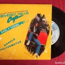 Discos de vinilo: BEVERLY HILLS COP - HAROLD FALTERMEYER, AXEL F THEME (WEA) SINGLE PROMOCIONAL ESPAÑA. Lote 93002505