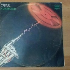 Discos de vinilo: CAMEL A LIVE RECORD. Lote 93016368
