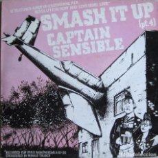 Discos de vinilo: CAPTAIN SENSIBLE (THE DAMNED): SMASH IT UP (PT. 4) / BROTHERHOOD OF LIZARDS, THE: MARKET DAY. Lote 93025625