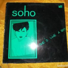 Discos de vinilo: SOHO. SHE´S LIKE A BOY. MAXI-SINGLE. STEPS RECORDS EDICION ALEMANA. IMPECABLE. Lote 93026335