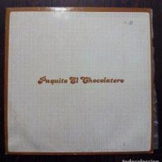 Discos de vinilo: MAXI SINGLE PAQUITO EL CHOCOLATERO - JUAN RAMÓN - NOVOSON 1993.. Lote 93032385