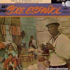 Discos de vinilo: NAT KING COLE ESPAÑOL – ARRIVEDERCI ROMA / ADELITA / EL BODEGUERO / ACERCATE MAS – EP SPAIN. Lote 93032610