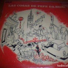 Discos de vinilo: LP DE PEPE DA-ROSA. LAS COSAS DE.... EDICION RCA DE 1972. FIRMADO. D.. Lote 93040840