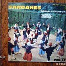 Discos de vinilo: COBLA BARCELONA - SARDANES - BONA FESTA + 3 - EDICIÓN FRANCESA . Lote 93063840