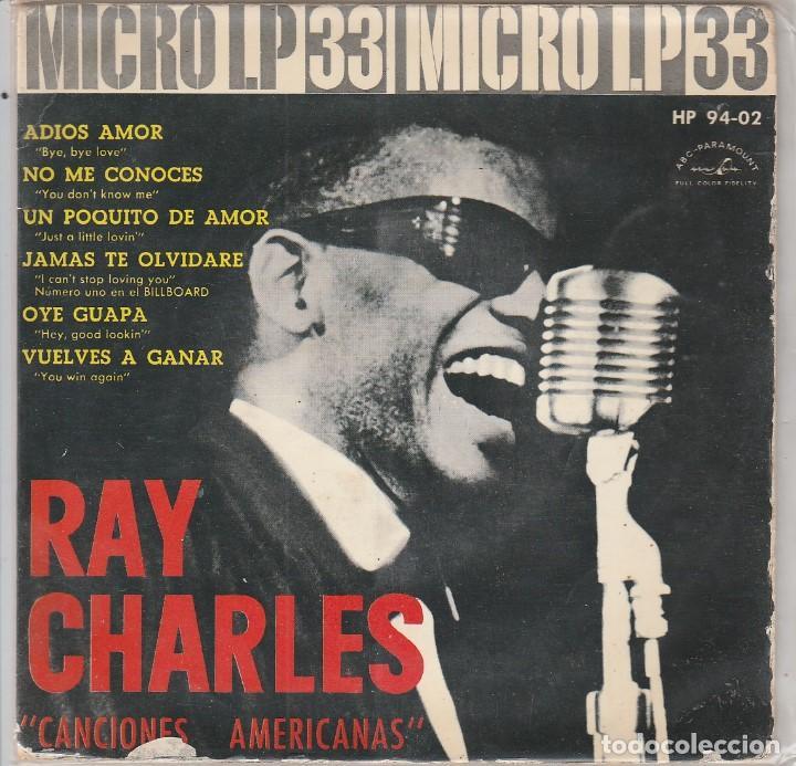 RAY CHARLES / CANCIONES AMERICANAS (MICRO LP 33 RPM 6 TEMAS 1962) (Música - Discos de Vinilo - EPs - Funk, Soul y Black Music)