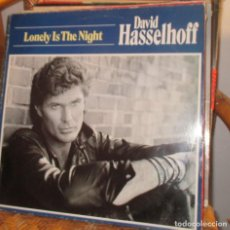 Discos de vinilo: DAVID HASSELHOFF - LONELY IF THE NIGHT LP 1989 - AOR - WEST COAST . Lote 93094965