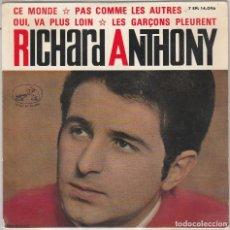 Discos de vinilo: RICHARD ANTHONY / CE MONDE + 3 (EP 1964). Lote 93095835