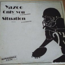 Discos de vinilo: DISCO VINILO YAZZO - ONLY YOU. Lote 93113870