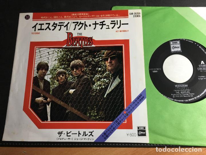 BEATLES (YESTERDAY / ACT NATURALLY ) SINGLE JAPAN (EPI9) (Música - Discos - Singles Vinilo - Pop - Rock Extranjero de los 50 y 60)