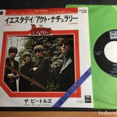 Discos de vinilo: BEATLES (YESTERDAY / ACT NATURALLY ) SINGLE JAPAN (EPI9). Lote 93116095