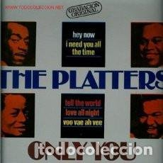 Discos de vinilo: VINILO LP THE PLATTERS: ONLY YOU, TELL THE WORLD, YOU MADE ME CRY, I NEED YOU ALL THE. Lote 93123685