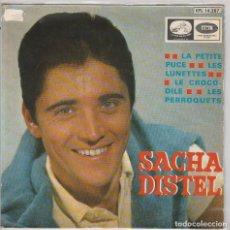 Discos de vinilo: SACHA DISTEL / LA PETITE PUCE + 3 (EP 1966). Lote 93139975