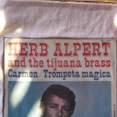 Discos de vinilo: EP HERB ALPERT AND THE TIJUANA BRASS CARMEN TROMPETA MAGICA. Lote 93249800