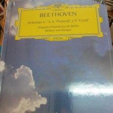 Discos de vinilo: SINFONÍAS Nº 5 6 POSTORAL Y 9 CORAL (LIBRO+ 2 CD) Nº 11 BEETHOVEN AÑO 2005. Lote 93253055