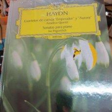 Discos de vinilo: CUARTETOS DE CUERDA EMPERADOR Y AURORA (LIBRO+ 2 CD) Nº 7 HAYDN AÑO 2005. Lote 93253190