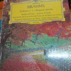 Discos de vinilo: SINFONÍA Nº 1 RÉQUIEM ALEMÁN (LIBRO+ 2 CD) Nº 25 BRAHMS AÑO 2006. Lote 93253770