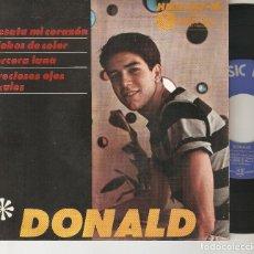 Discos de vinilo: DONALD 7´ SPAIN 45 EP 1964 DESATA MI CORAZON + 3 HISPAVOX MUSIC HALL ARGENTINA MUY RARO MIRA !!. Lote 93281710
