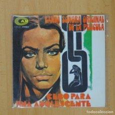 Discos de vinilo: CEBO PARA UNA ADOLESCENTE B.S.O.- AUSENCIA / NUESTRO MARAVILLOSO MUNDO - SINGLE. Lote 93282873