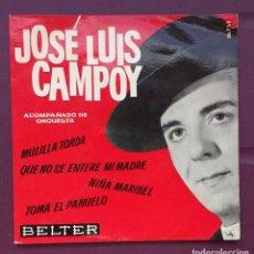 Discos de vinilo: JOSÉ LUIS CAMPOY. EP. ,MULILLA TORDA, QUE NO SE ENTERE MI MADRE.... Lote 93303675