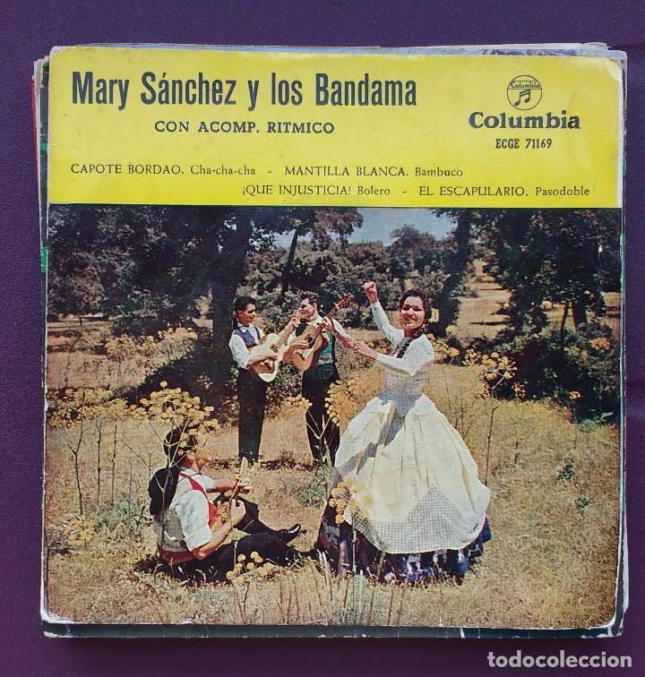 MARY SÁNCHEZ Y LOS BANDAMA - CAPOTE BORDAO / MANTILLA BLANCA + 2 - EP 1959 (Música - Discos de Vinilo - EPs - Solistas Españoles de los 50 y 60)